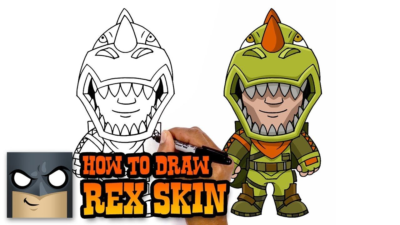 How To Draw Rex Skin Fortnite Art Tutorial Fortnite In 2019