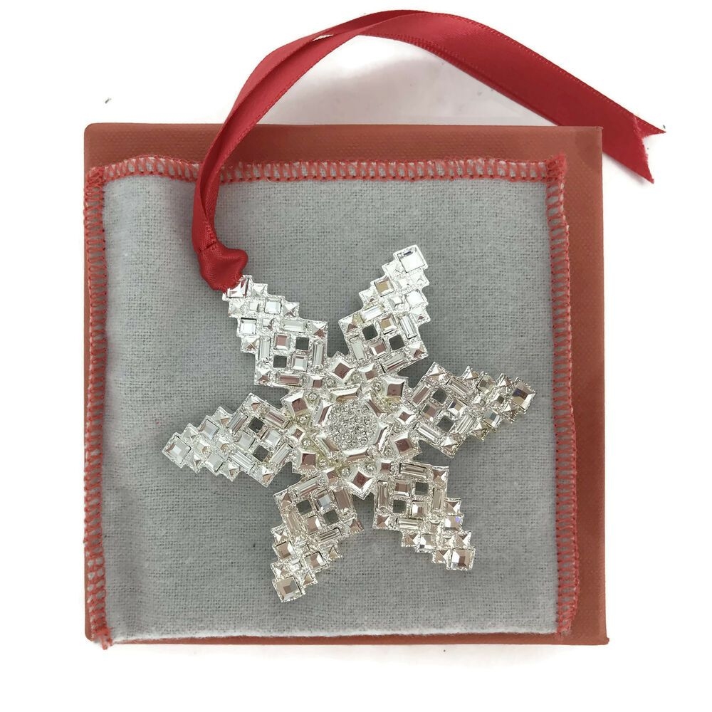 Orange Howell Made In USA Luxury Christmas Ornament Shimmer Snowflake ORA10019