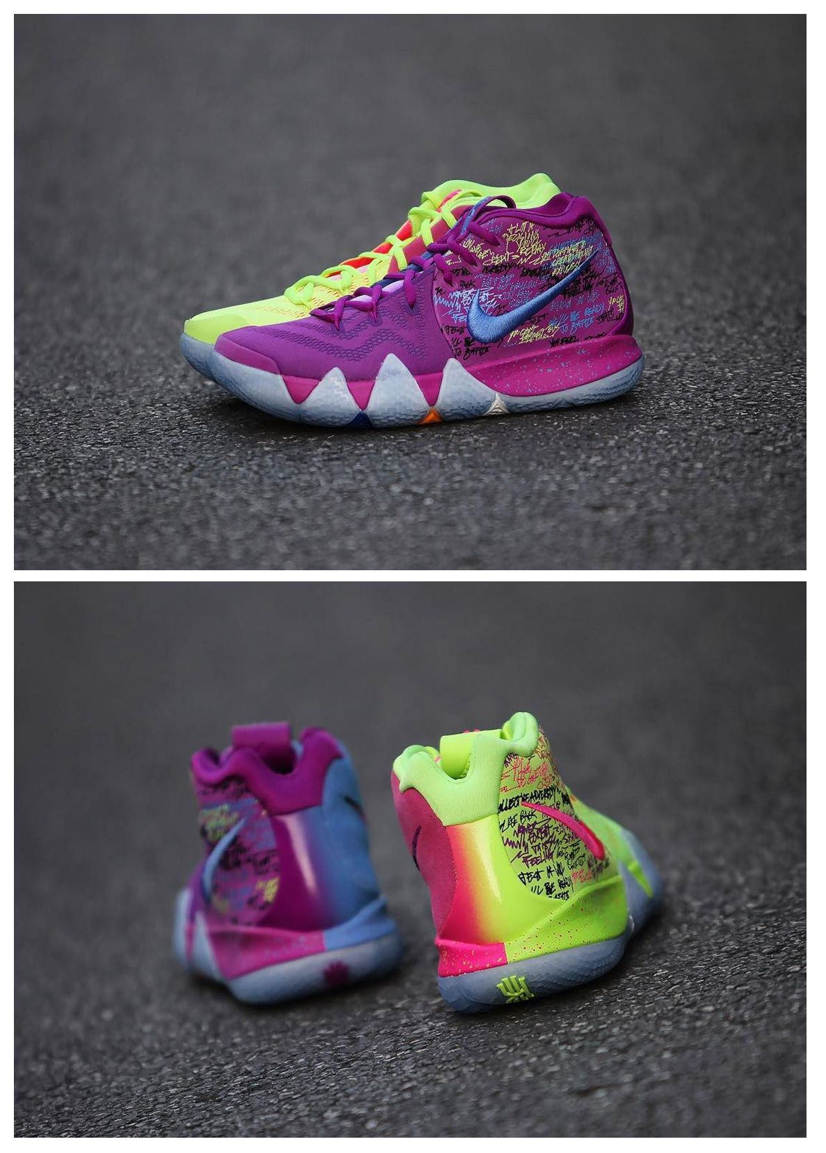 new style ff37f 3f68e Nike Kyrie 4 Confetti | The Kicks | Nike kyrie, Nike shoes, Nike