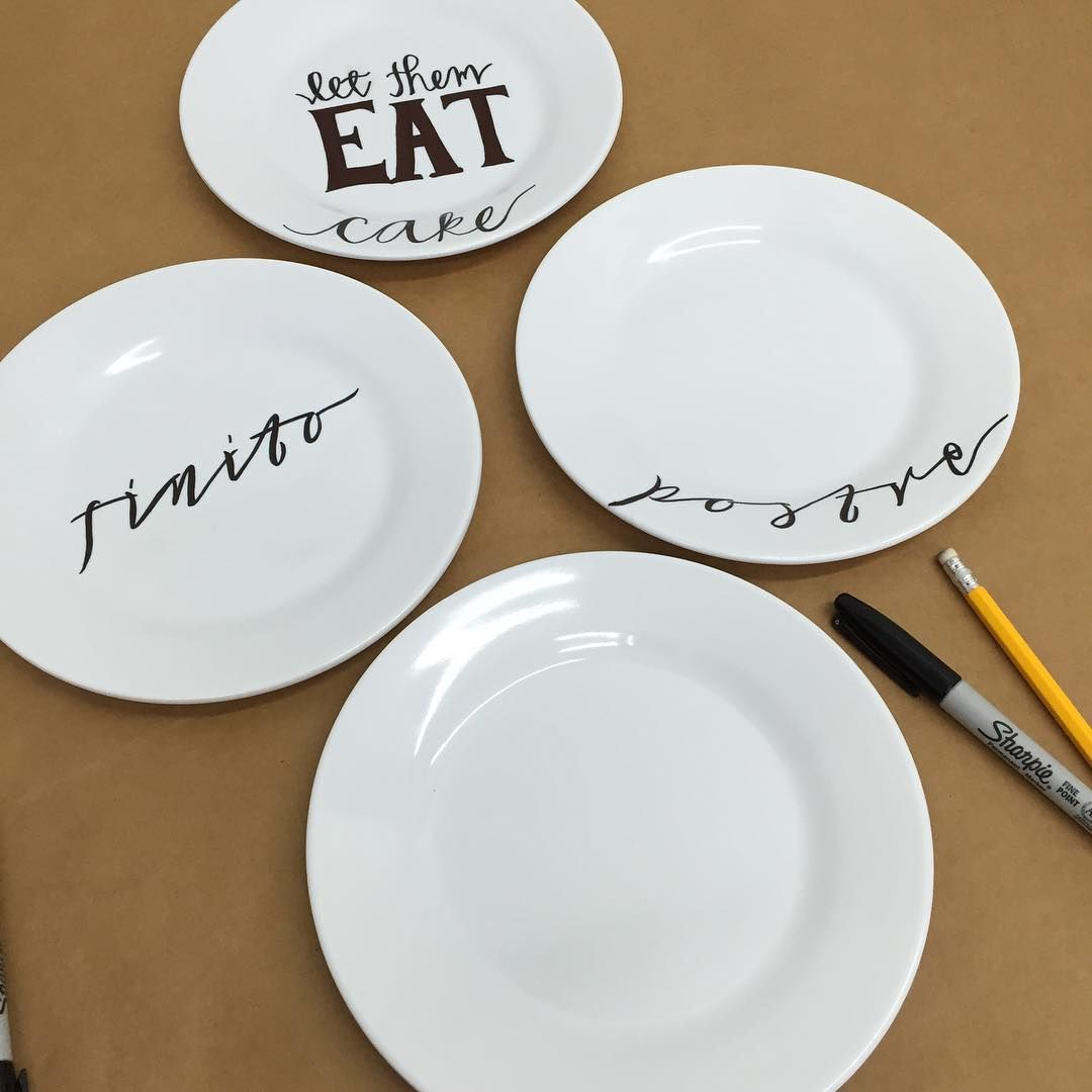 DIY! Having some fun with these Melamine small plates that ...