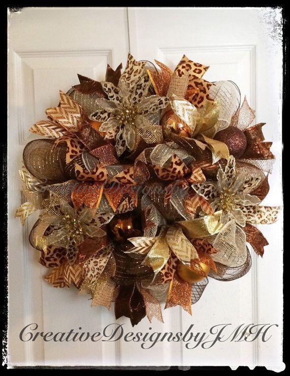 Holiday Deco Mesh Wreath by CreativeDesignsJMH on Etsy #decomeshwreaths Holiday Deco Mesh Wreath by CreativeDesignsJMH on Etsy #decomeshwreaths