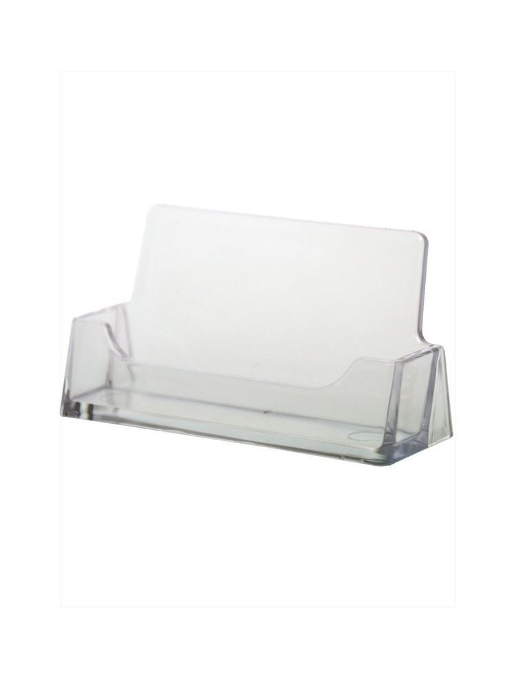 20 Clear Business Card Stand Holders Counter top Display Office ...