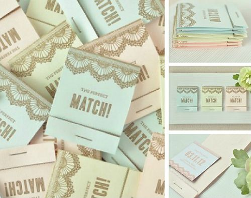 Wedding favour matches.