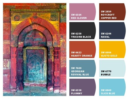 Bohemian Door Color Palette Inspiration Chip It By Sherwin Williams Chipcard By Christy C