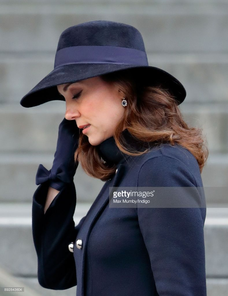 (EMBARGOED FOR PUBLICATION IN UK NEWSPAPERS UNTIL 24 HOURS AFTER CREATE DATE AND TIME) Catherine, Duchess of Cambridge attends the Grenfell Tower national memorial service at St Paul's Cathedral on December 14, 2017 in London, England. The multi-faith memorial service attended by The Prime Minister and members of The Royal Family marks the six month anniversary of the Grenfell Tower fire in which 71 people died. (Photo by Max Mumby/Indigo/Getty Images)