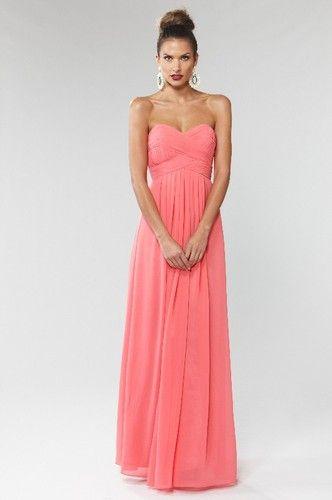 Langhem Mona Lisa Evening Dress - Coral Maxi Dress Evening Dress