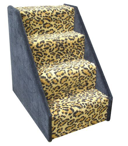 4 Step Pet Stairs - Leopard Print or Pink - Get an additional 10% off... Promo Code: DOG7374
