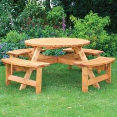 Beautiful Anchor Fast Somerset Round Picnic Bench Nice Design