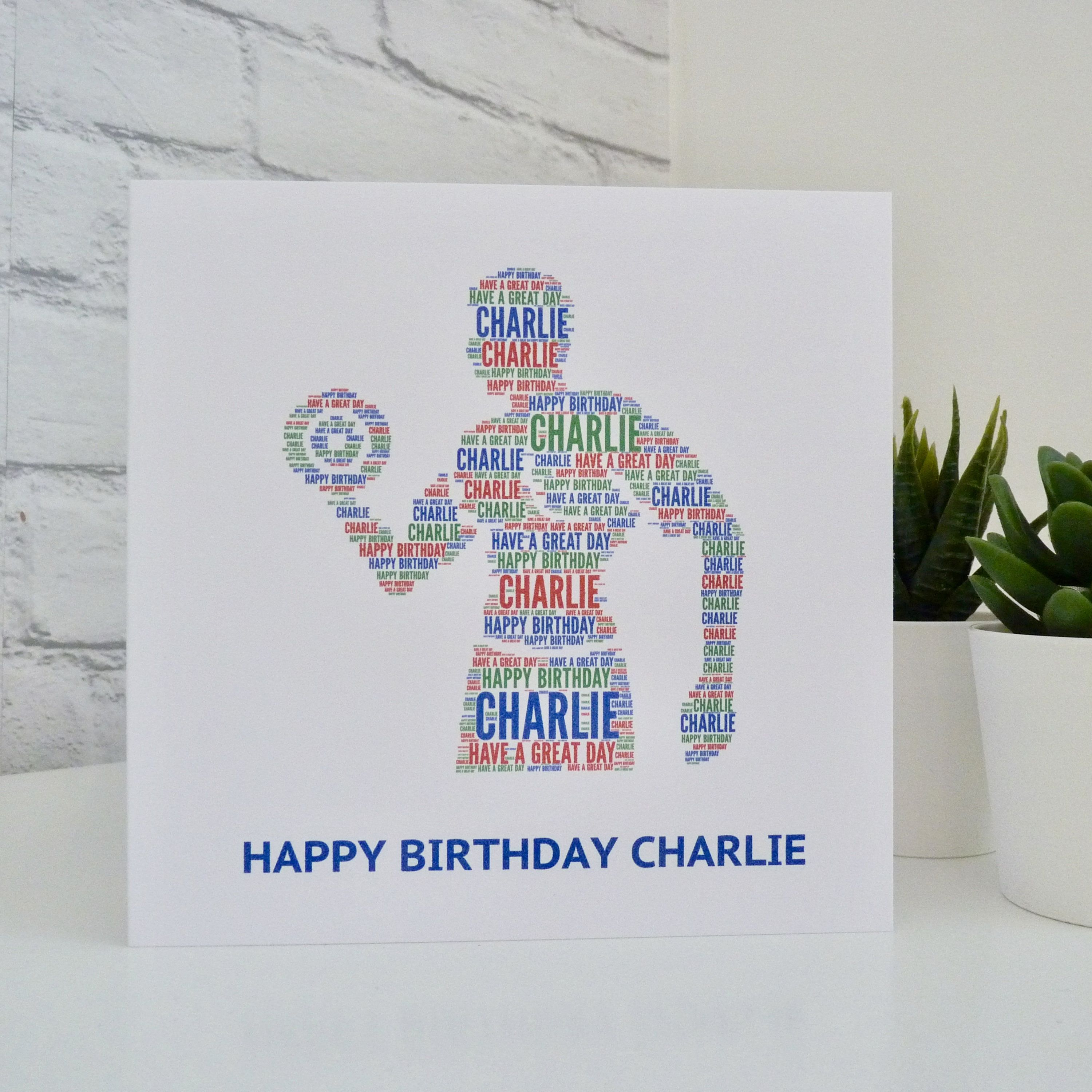 Personalised Mens Gym Fitness Birthday Card Fitness Etsy Personalized Birthday Cards Birthday Cards For Men Birthday Cards