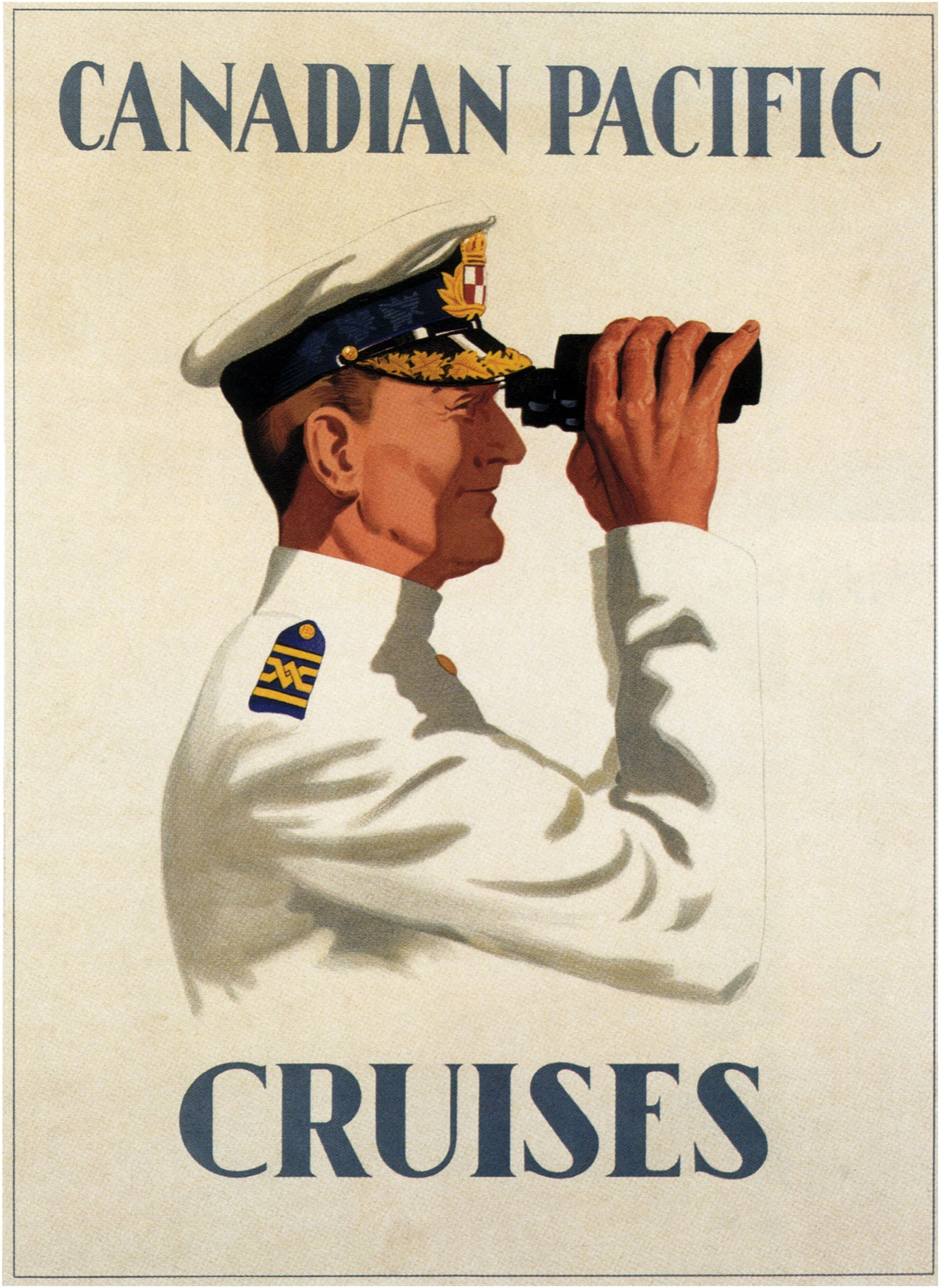 Ship Captain on Binoculars\
