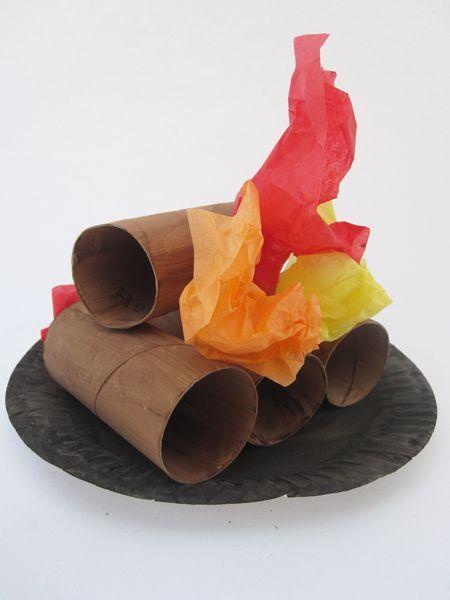 Bonfire craft kids crafts arty ideas for children for Camino finto fai da te per natale