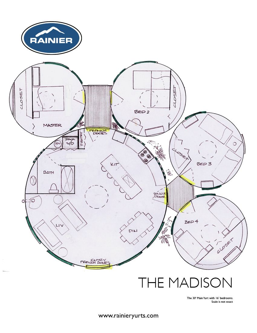 Earthship plans and designs pictures - Yurt Floor Plans Rainier Yurts