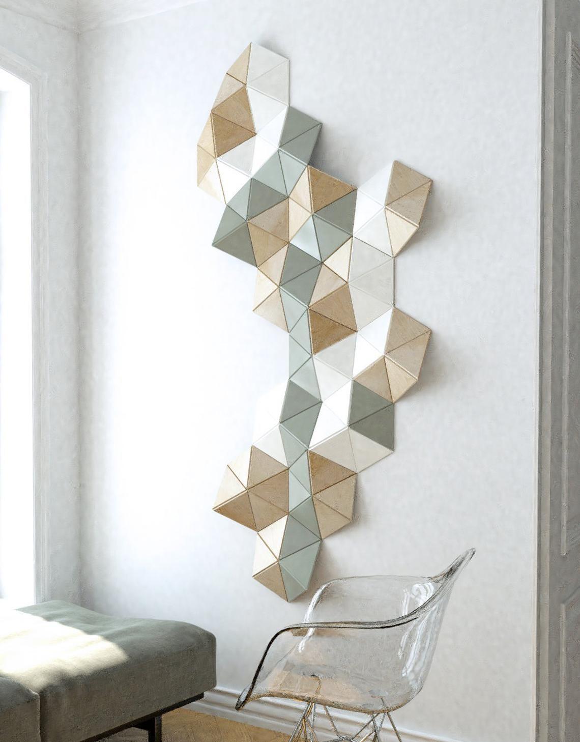 3d Wall Art Wall Sculpture Geometric Art Wooden Wall Decor
