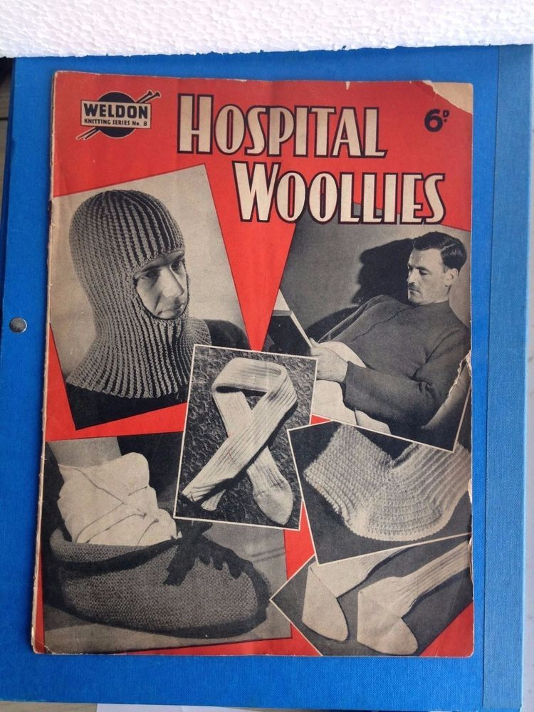 Retro Weldon knitting patterns Hospital Woolies wartime 20 page ...