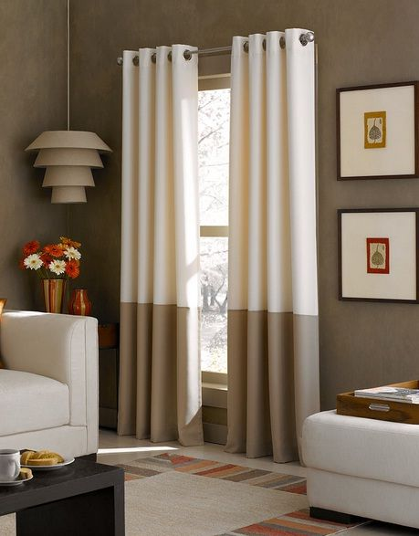 Grommet curtains Modern Window Treatments Art Design
