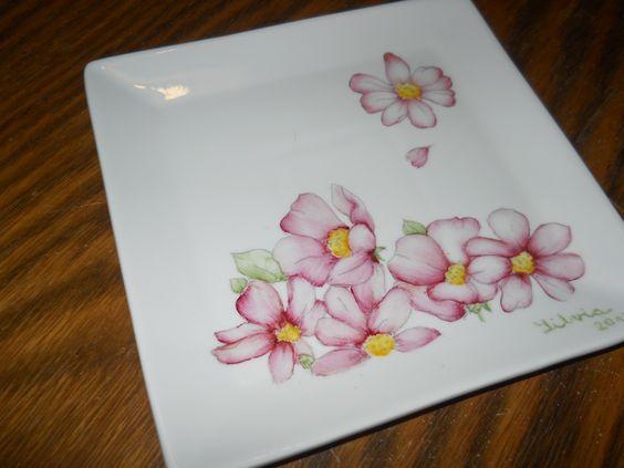 Pintura sobre porcelana: