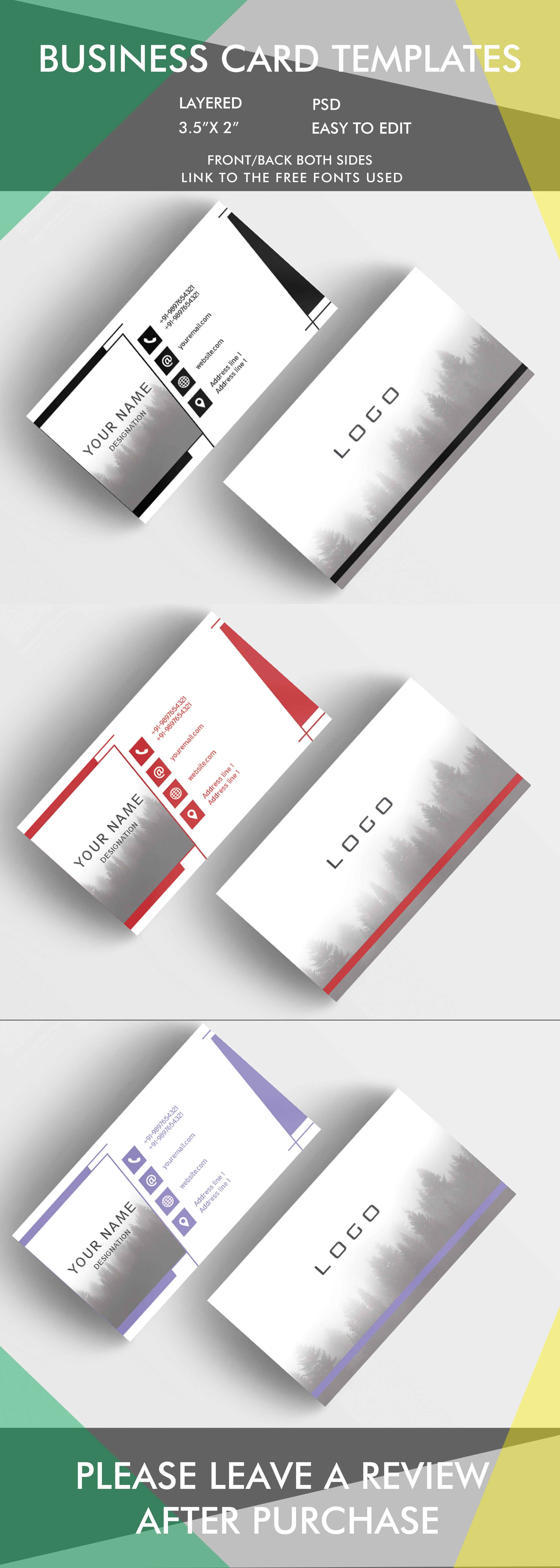3 In 1 Business Card Template For 10 Only Businescards Templates Cool Business Cards Business Card Maker Business Card Inspiration