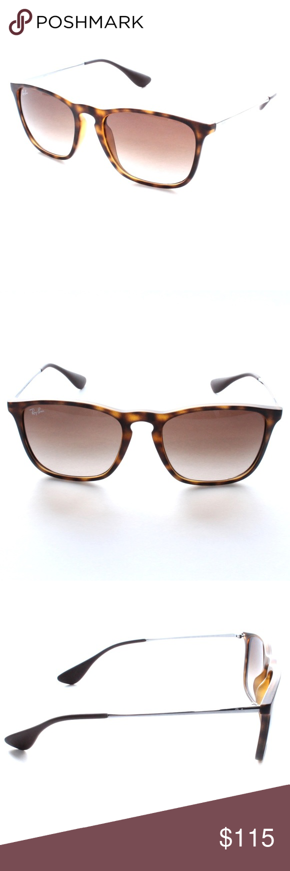 2c8c34fc32 Ray-Ban Chris RB4187 856 13 54-18 3N Tortoise Brand New 100% Authentic Ray-Ban  Chris RB4187 856 13 54-18 3N Tortoise Frame Brown Gradient Lenses Comes  with ...