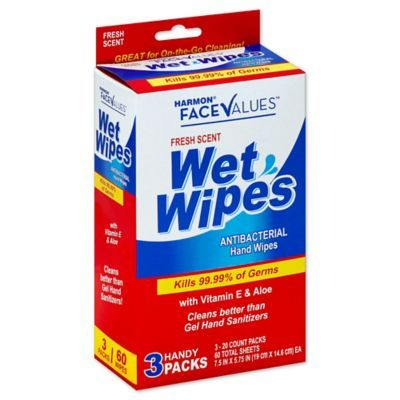 Harmon Face Values 3 Pack Wet Wipes In Fresh Scent Wet Wipe