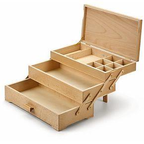 Nahkasten 3 Laden Sewing Box Wood Packaging Woodworking Box