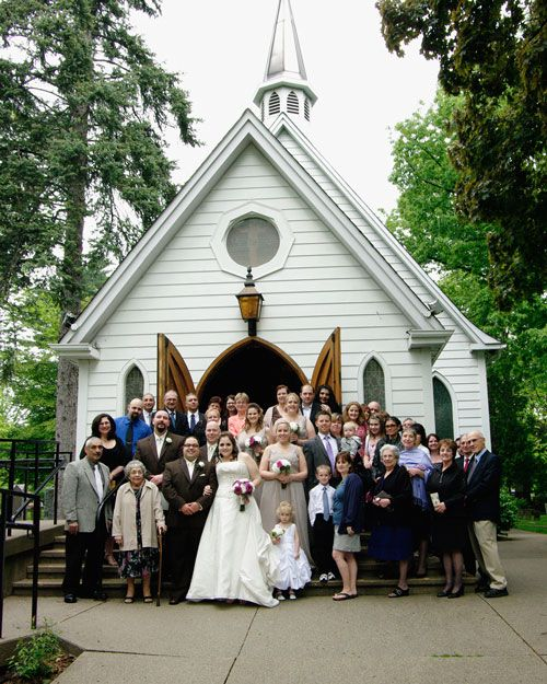 Real Weddings Jackie Marc S Beautiful Intimate Wedding Small Church