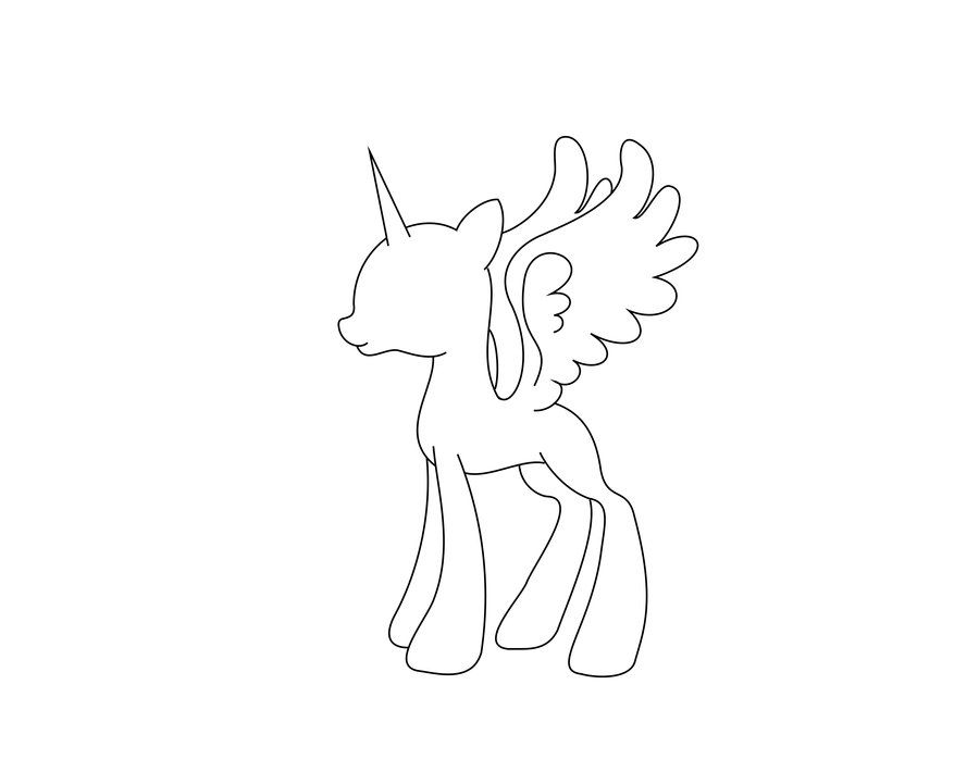 MLP Pony Base Alicorn Becca Pinterest Mlp pony - best of simple my little pony coloring pages