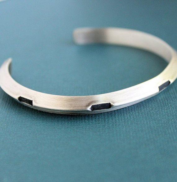 Mens Sterling Silver Gear Cuff Bracelet Metal Bracelets For Men