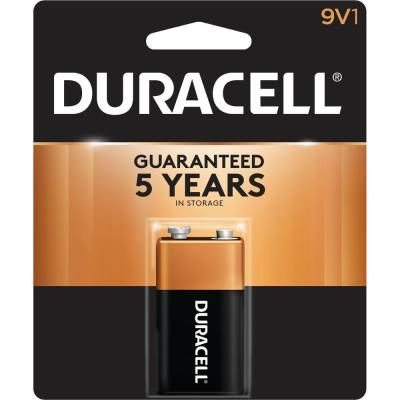 Duracell Coppertop 9 Volt Alkaline Battery 004133309361 The Home Depot Duracell Alkaline Battery Power Outlet