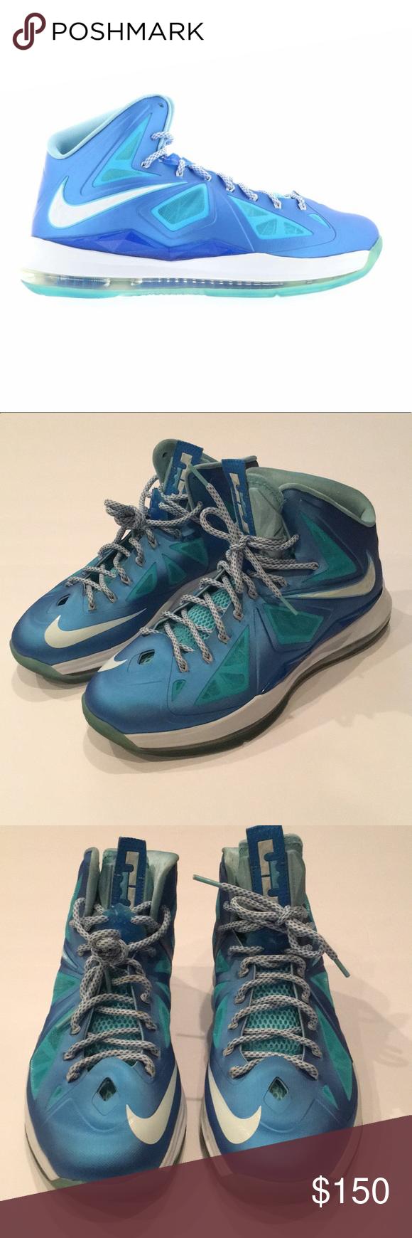 be12a46cd72a Nike Lebron 10+ Blue Diamond AUTHENTIC Great Condition Nike Lebron 10+ Blue  Diamond.