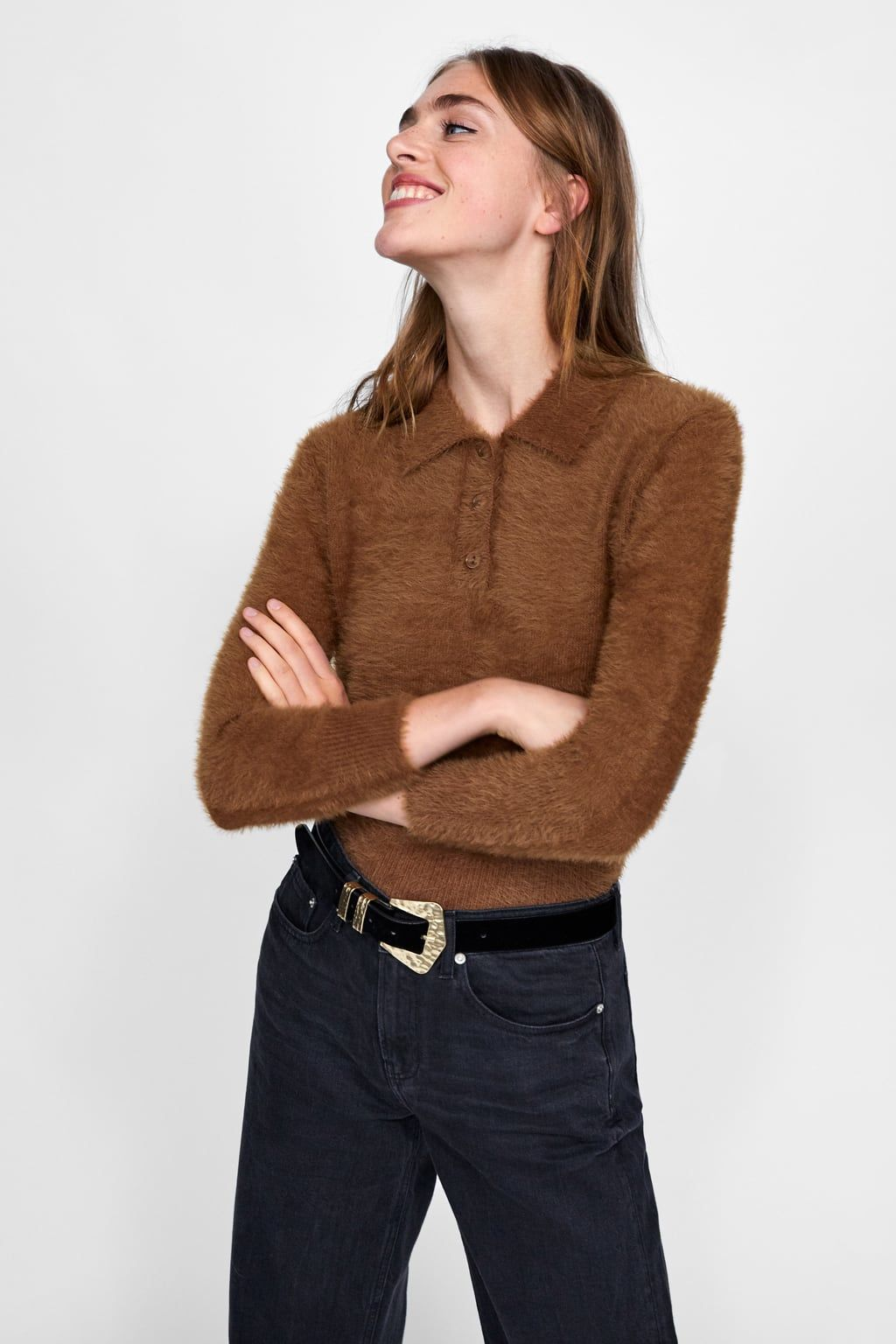 3b15b198 Image 2 of TEXTURED POLO SWEATER from Zara | BUY (APPAREL) | Polo ...