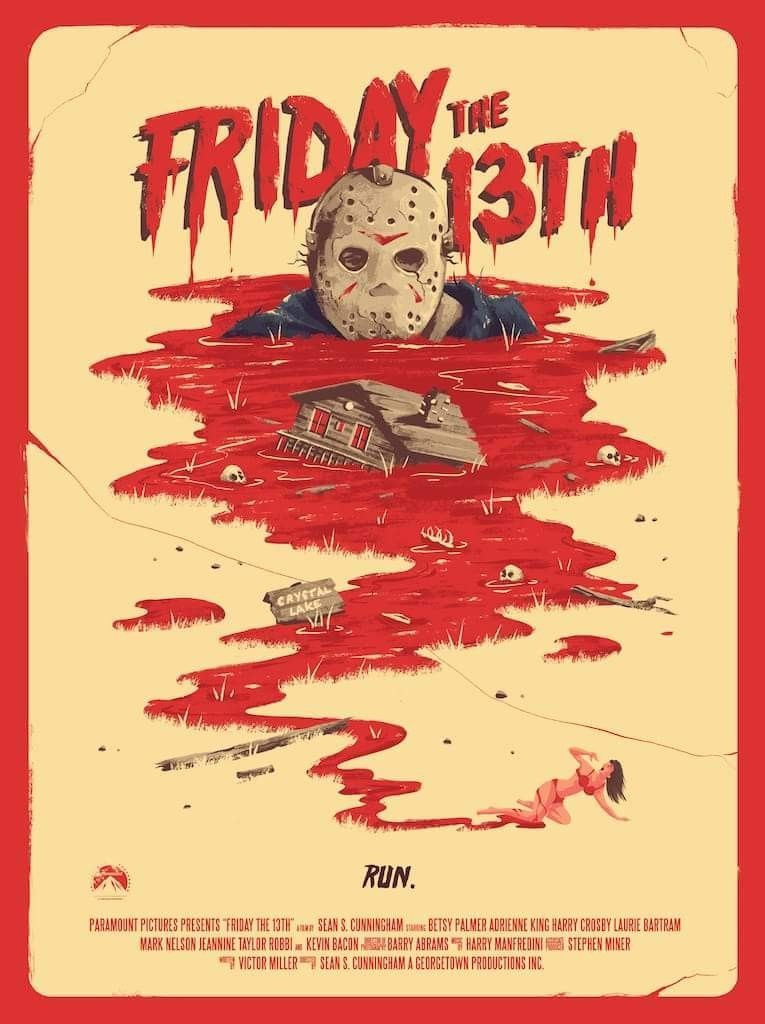 Friday The 13th Classic Horror Movies Posters Horror Movie Posters Horror Posters