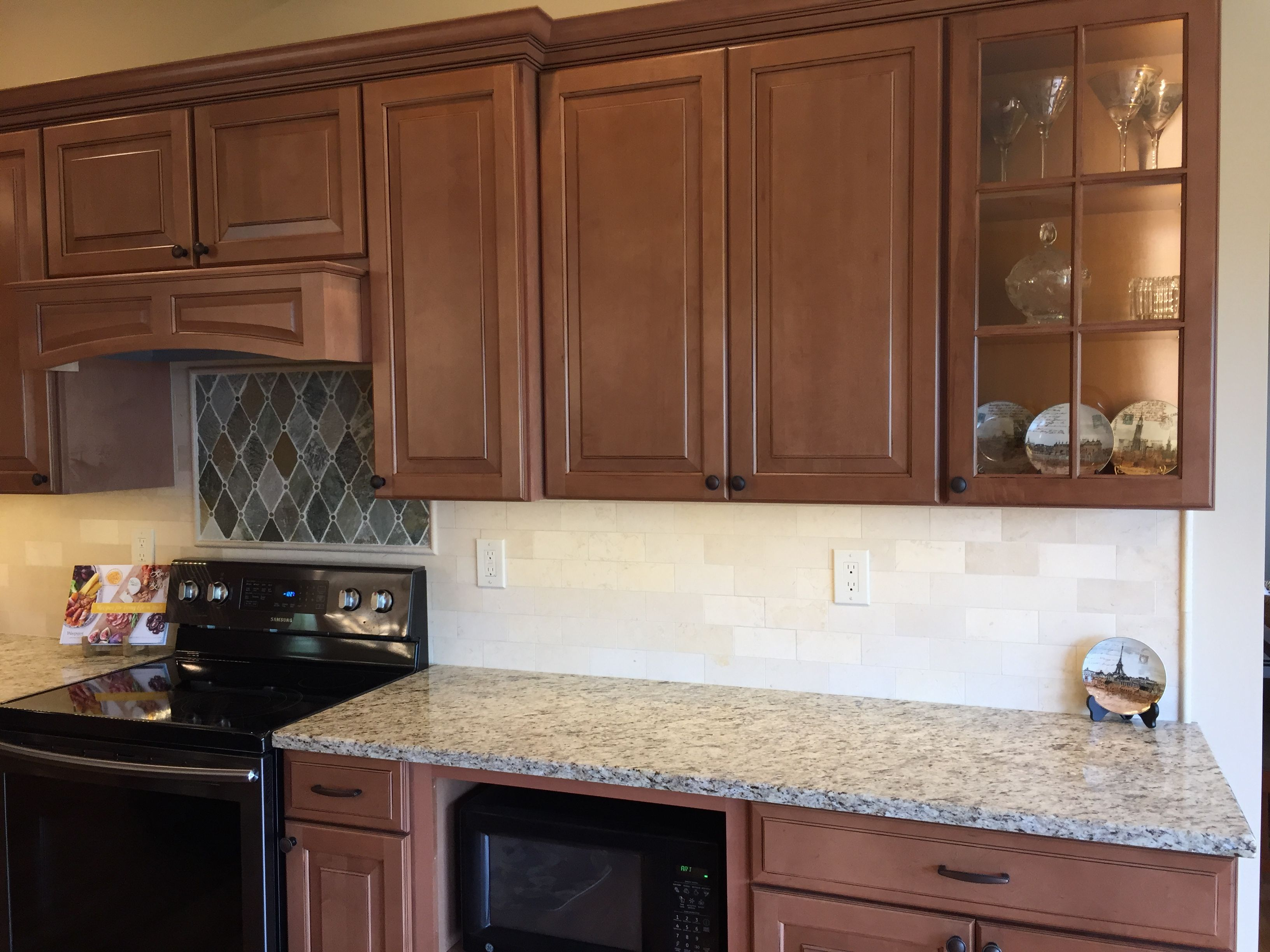 Granite counter top Giallo Ornamental from Stoneworks ... on Best Granite Color For Maple Cabinets  id=64256