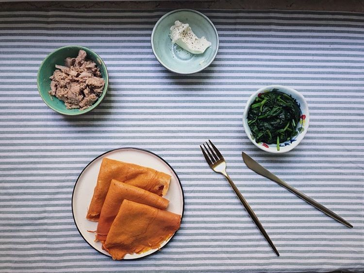 [New] The 10 Best Food Ideas Today (with Pictures) -    Tomato Crêpe tuna cream cheese spinach