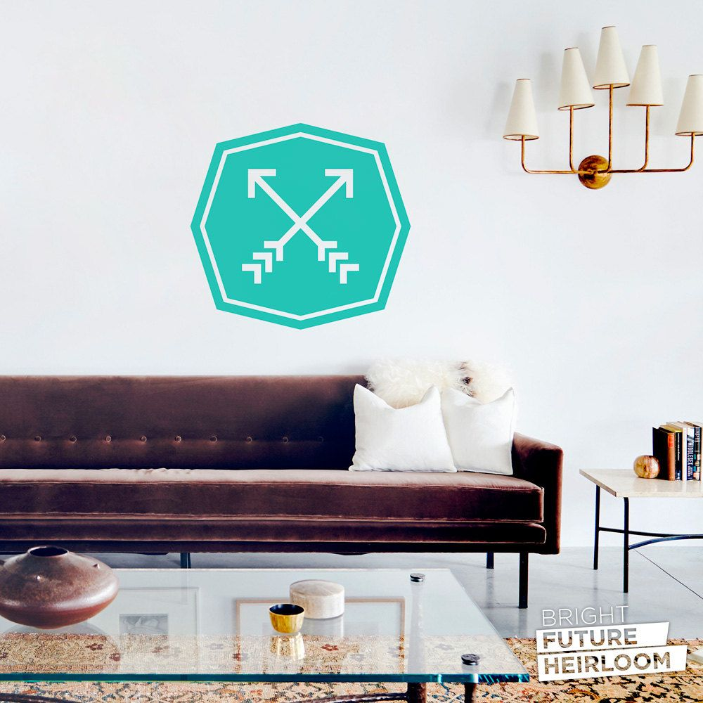 Crossed Arrow Badge 02 - Cut Vinyl Removable Wall Decal - Fun Wall ...