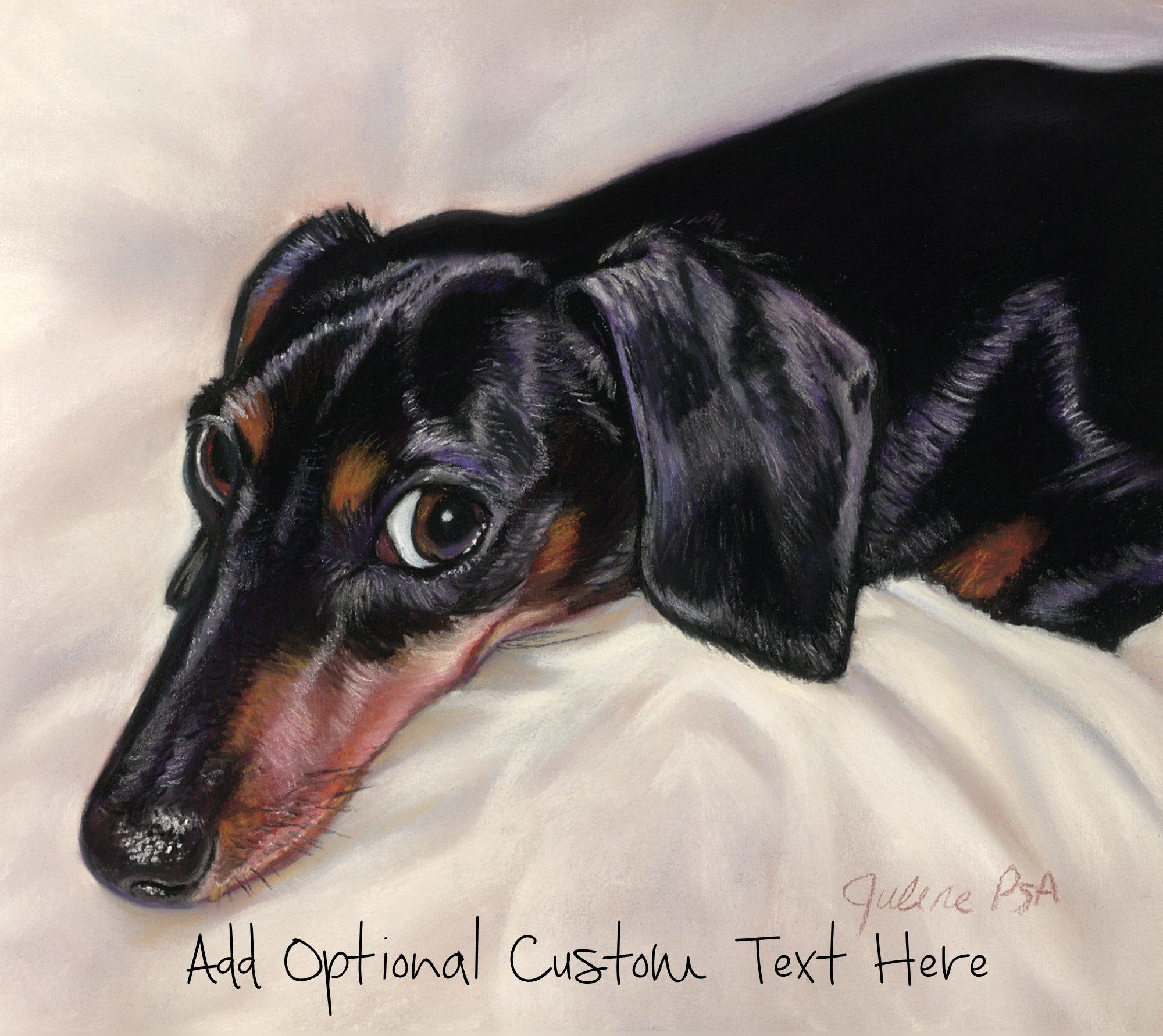 Black Doxie Art Minature Dachshund Art Dachshund Art Dog Gifts