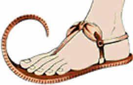 Egipcios. Sandalias con punta realzada. Fibra de palma. Museo de Berlín