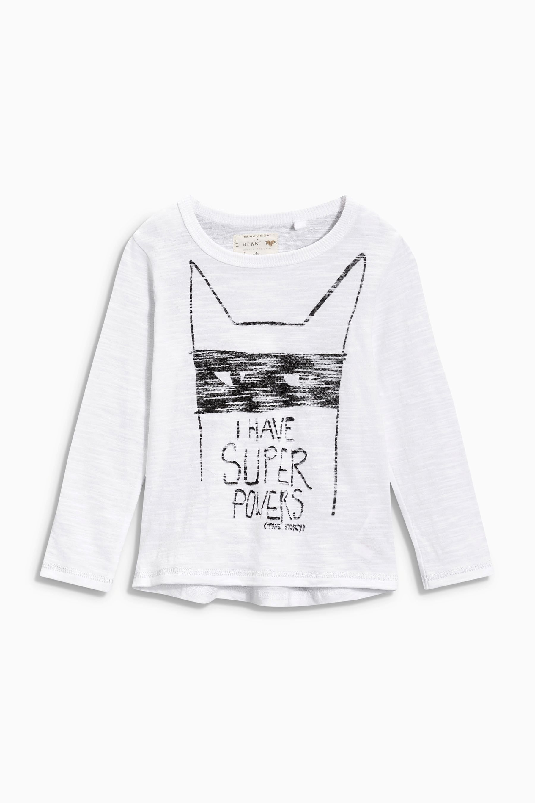 6478b94a Buy White Super Powers Slogan T-Shirt (3mths-6yrs) from the Next UK online  shop