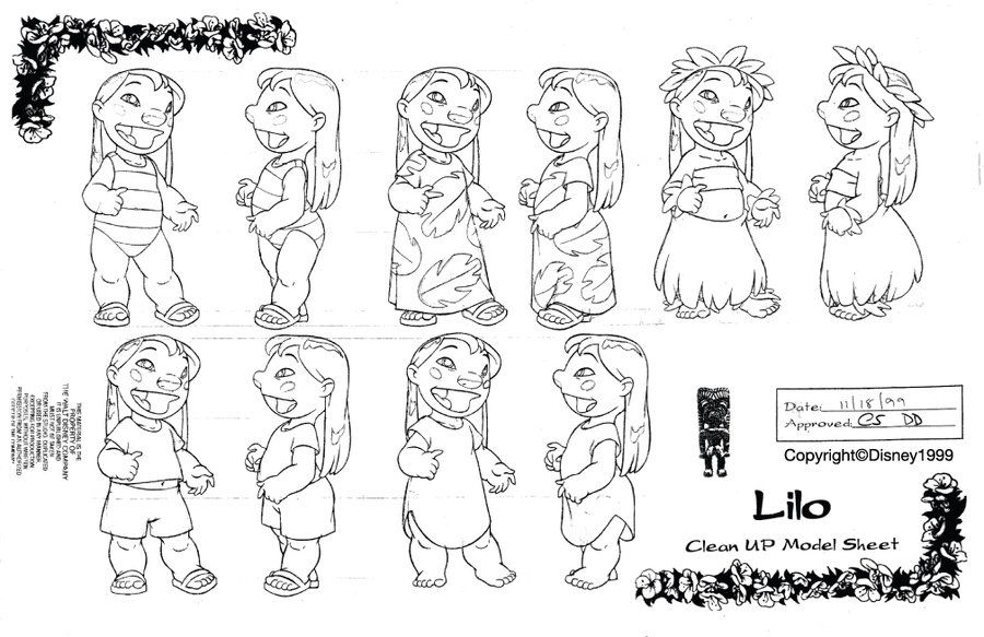 Clean-Up Modelsheet3(Lilo and Stitch) by dagracey.deviantart.com on ...