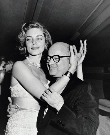 lauren bacall and swifty lazar at the seven year itch wrap party, 1954 • sam shaw • for @Melanie Clark thank you @sugarpie project