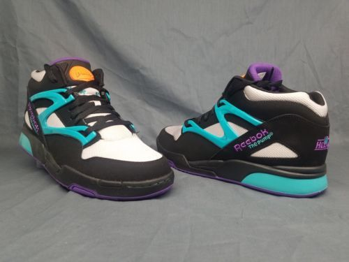 e7d1aa678bc6 Reebok Men s Pump Omni Lite Fashion Sneakers Black Teal Purple Size 11.5 ...