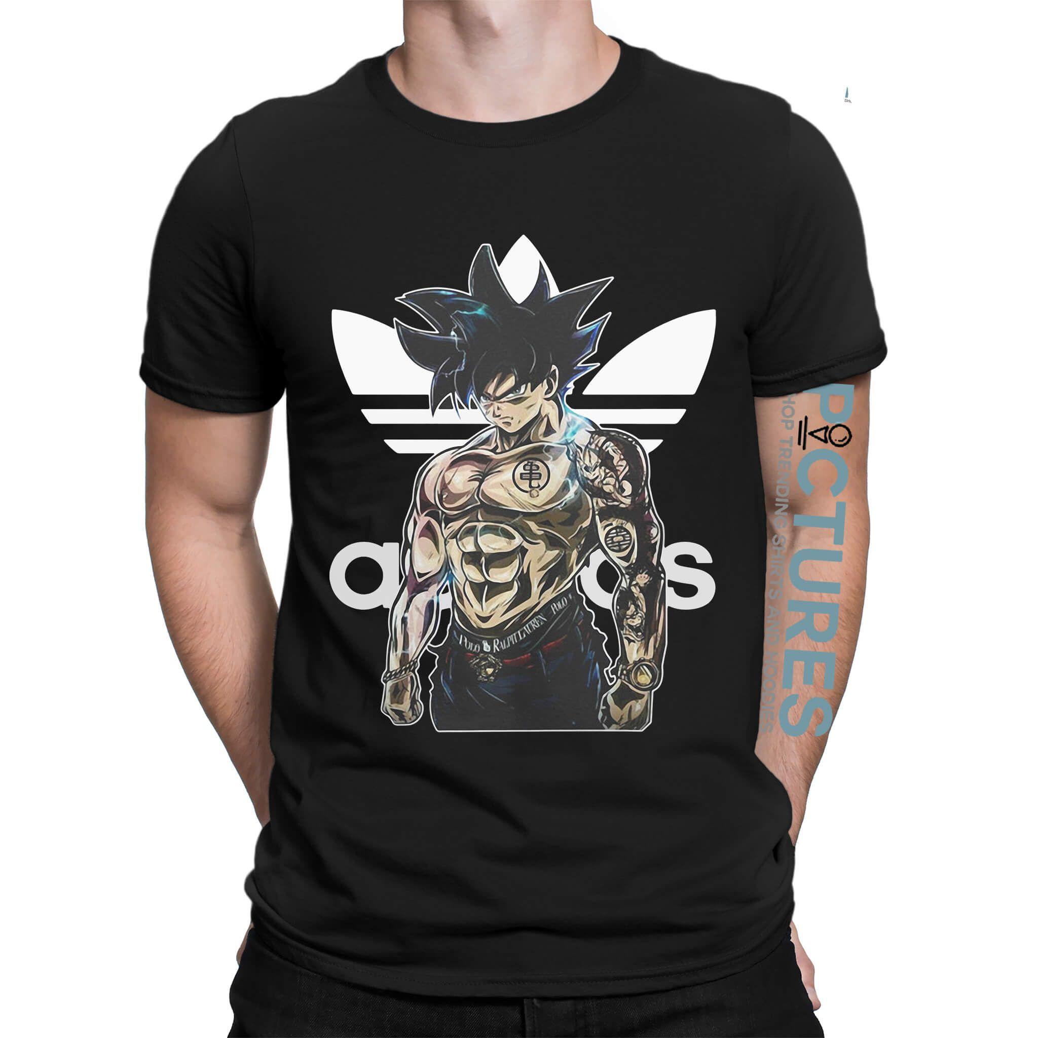 Adidas Dragon Ball Super Shirt Hoodie Sweater V Neck T Shirt Adidas Dragon Shirts Cool Shirts [ 2048 x 2048 Pixel ]