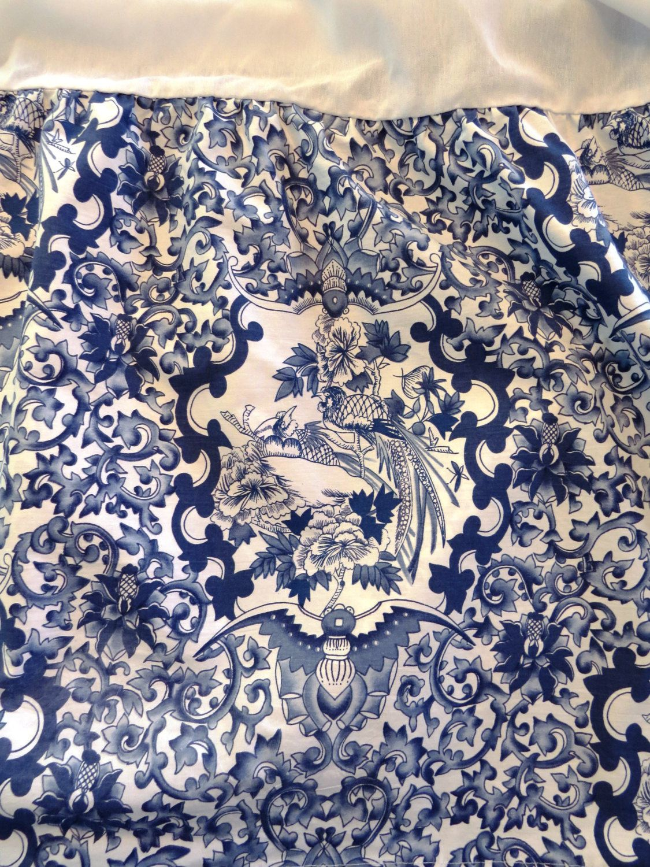 Ralph Lauren Queen Dust Ruffle Bed Skirt Tamarind Nanking