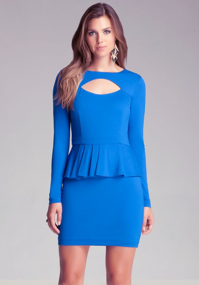 Bebe Kaboo Ponte Peplum Dress View All
