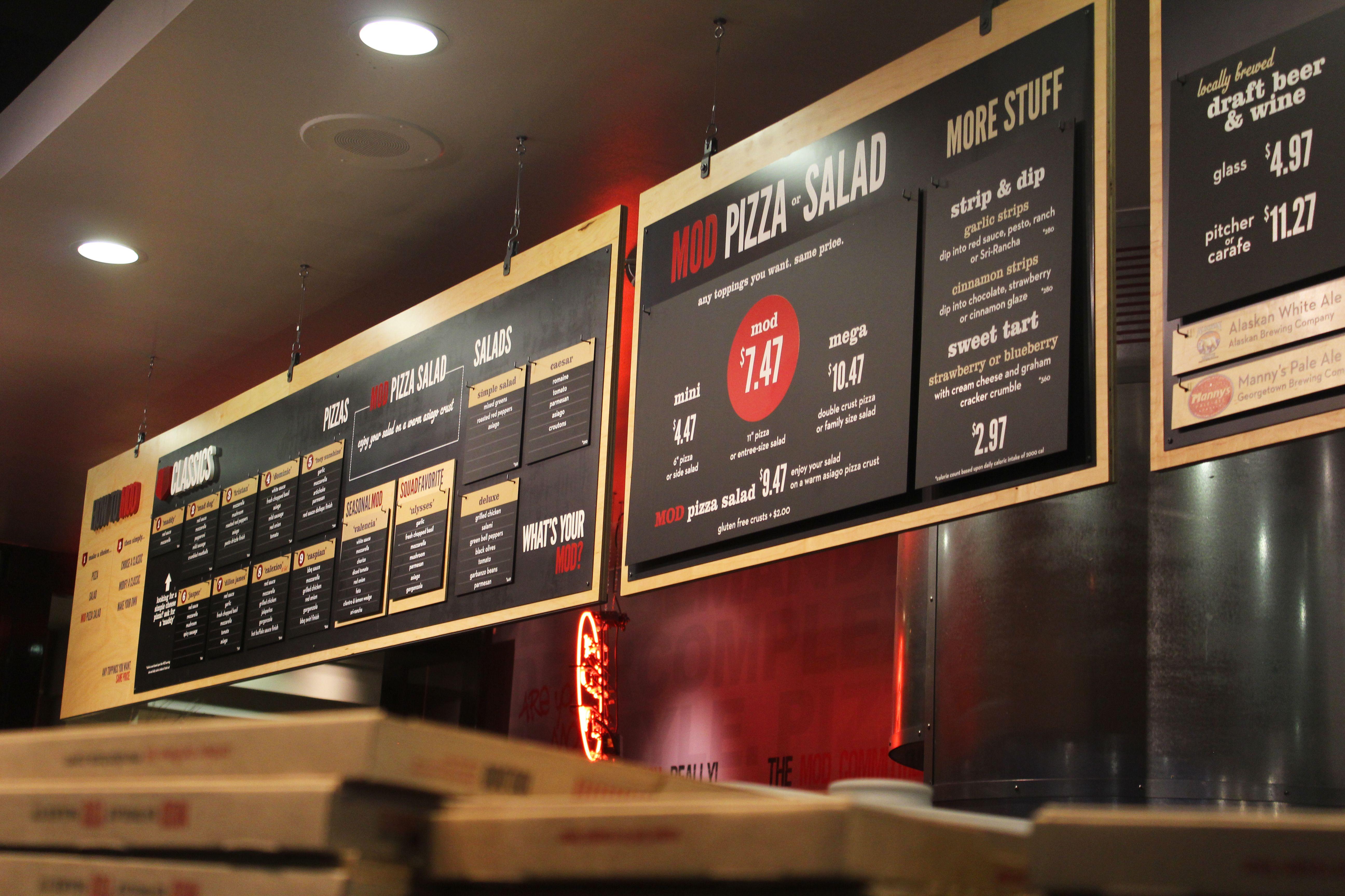 MOD Pizza menuboard | Projects | Pinterest