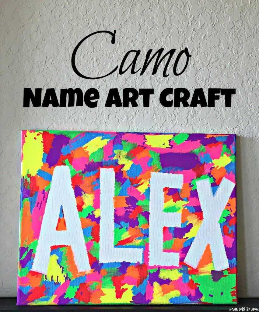 Novel Kleiderschränke Easy Camo Name Art Craft | Name Crafts, Art Projects For Teens, Camo Crafts