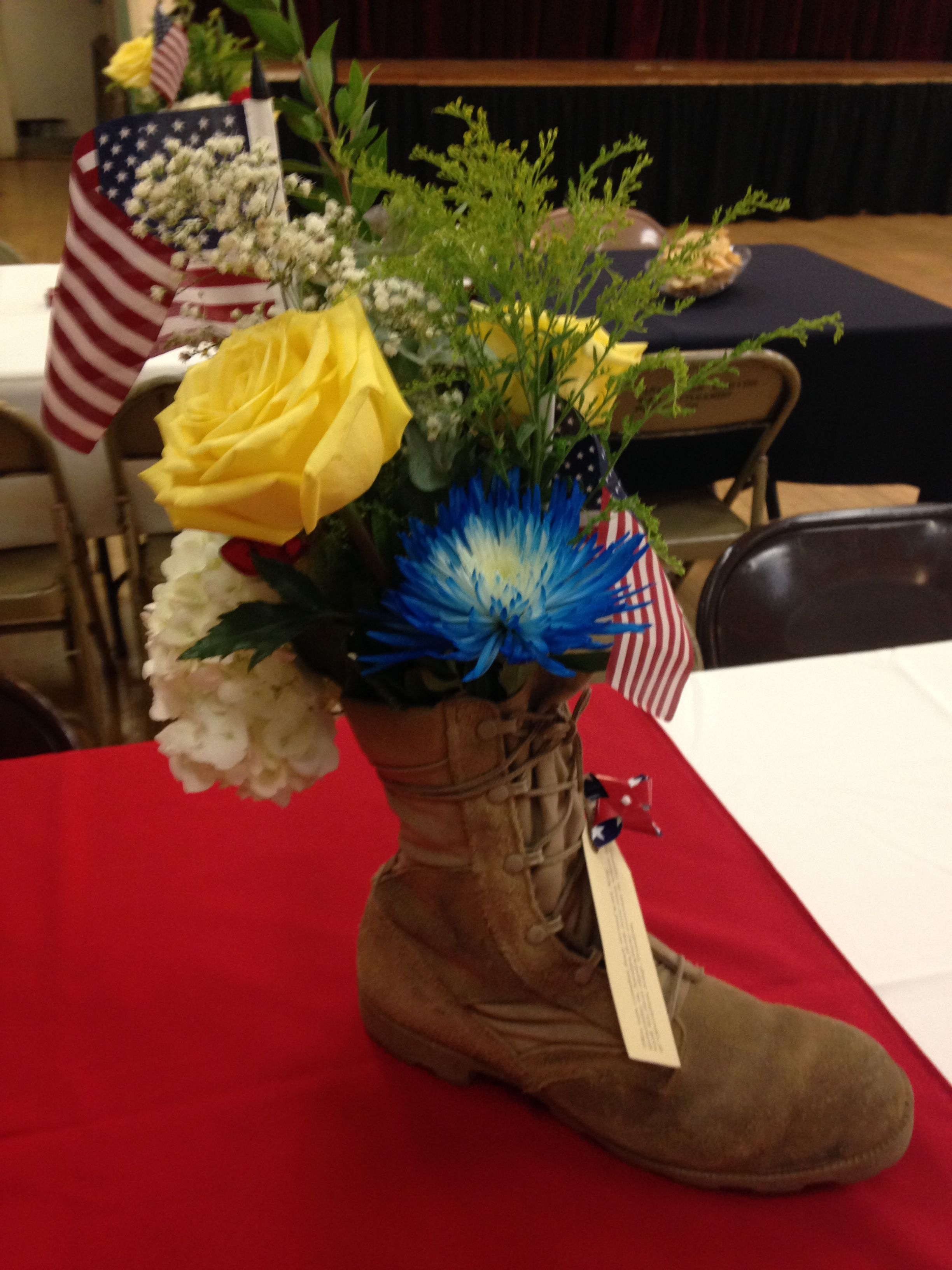 centerpieces for my husbands military retirement party