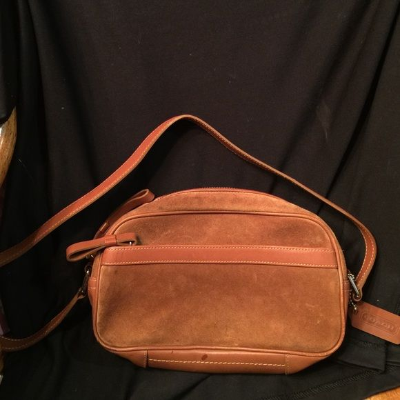 """Coach handbag Some very  dirty wear on the bottom, sides. One outside zipper pocket. 9""""across 6""""tall 3.5""""deep Coach Bags Shoulder Bags"""