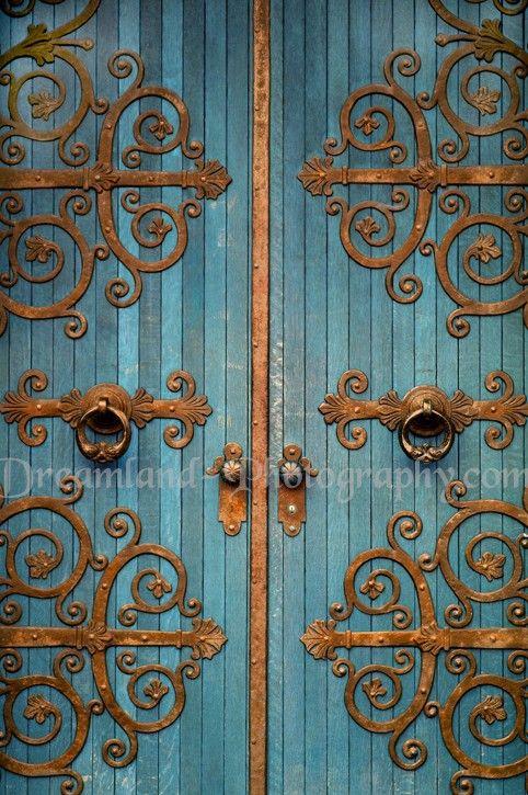 Decorative brass u0026 Wrought Iron. Church. Nordic Teal Door . & Decorative brass u0026 Wrought Iron. Church. Nordic Teal Door . | Home ...