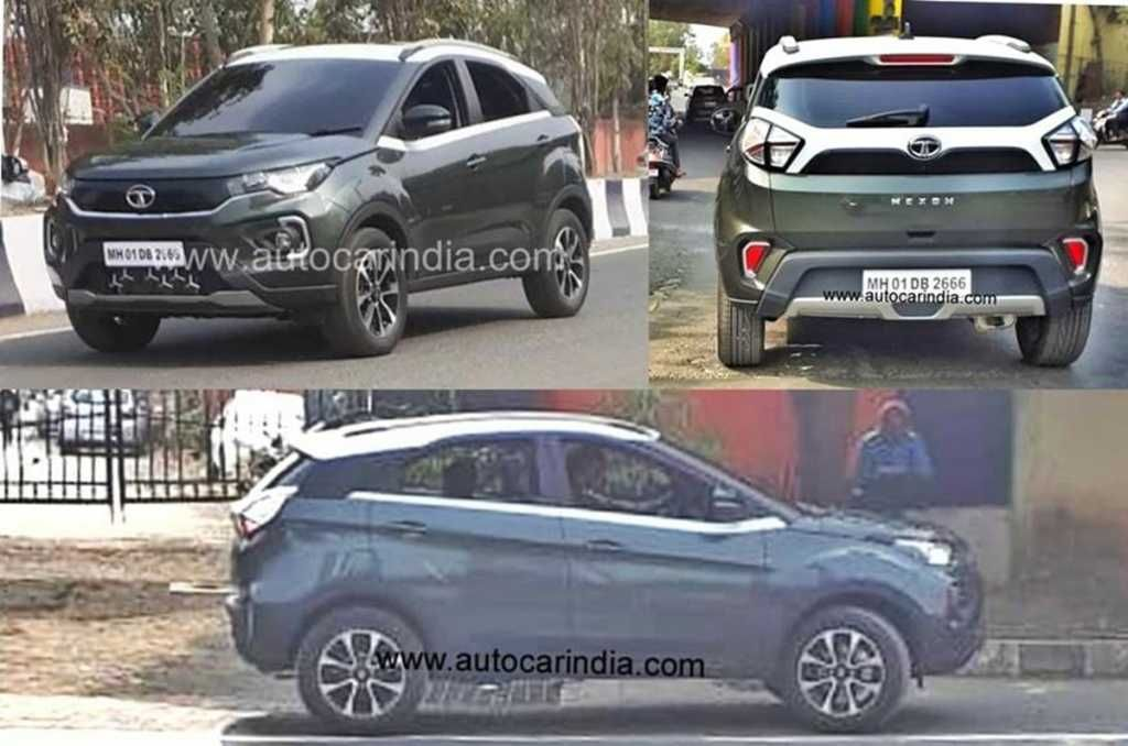 These Are The Latest Images Of An Undisguised Tata Nexon Facelift