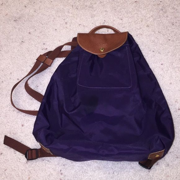 Dos Sac Longchamp Scusa A Pliage per Purple l'illuminazione Backpack qpw7xf